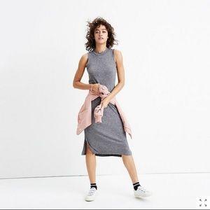 Madewell Gray Ribbed Tank Dress